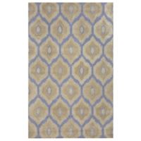 Rizzy Home Rockport Ikat 5-Foot x 8-Foot Area Rug in Tan