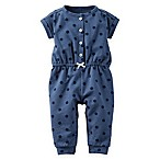 carter's® Size 3M Polka Dot Short Sleeve French Terry Romper in Blue
