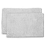 Resort Collection Chenille Plush Loop  2-Piece Bath Mat Set in Light Grey