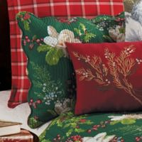 Bella Magnolia Standard Pillow Sham in Green/Red/White