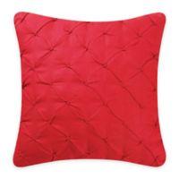 Bella Magnolia Diamond Tuck Throw Pillow in Red