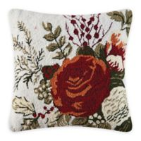 Jardin Rouge Square Throw Pillow
