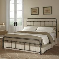Fashion Bed Group Fremont Complete Queen Bed in Weathered Nickel