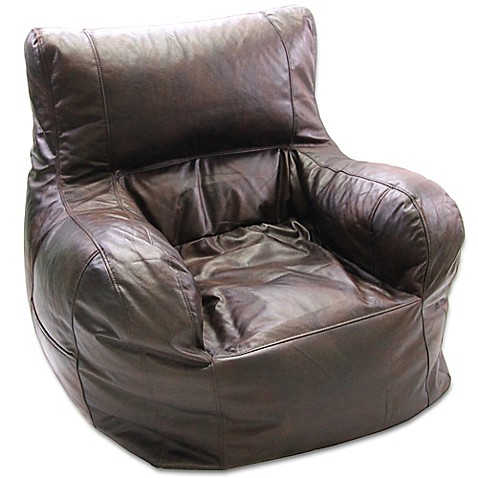 Large Arm Chair Bean Bag Chair In Brown Bed Bath Amp Beyond