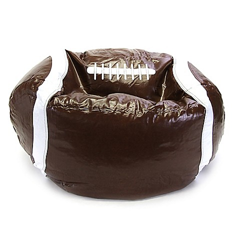Sports Football Bean Bag Chair In Brown Bed Bath Amp Beyond