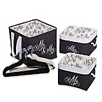 Closet Complete 23-Piece Storage Gift Set in Black/White
