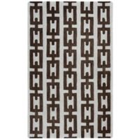 Rizzy Home Caterine Links Hand-Tufted Wool 5-Foot x 8-Foot Area Rug in Off-White