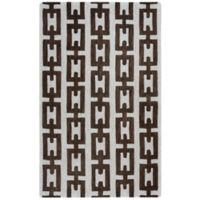 Rizzy Home Caterine Links Hand-Tufted Wool 9-Foot x 12-Foot Area Rug in Off-White