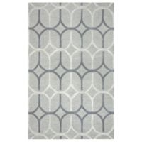 Rizzy Home Caterine Ovals Hand-Tufted Wool 5-Foot x 8-Foot Area Rug in Grey
