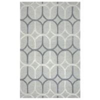 Rizzy Home Caterine Ovals Hand-Tufted Wool 8-Foot x 10-Foot Area Rug in Grey