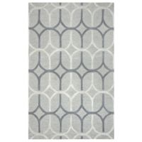 Rizzy Home Caterine Ovals Hand-Tufted Wool 9-Foot x 12-Foot Area Rug in Grey