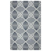 Rizzy Home Caterine Diamond Hand-Tufted Wool 5-Foot x 8-Foot Area Rug in Blue