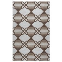 Rizzy Home Caterine Diamond Hand-Tufted Wool 5-Foot x 8-Foot Area Rug in Khaki