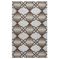 Rizzy Home Caterine Diamond Hand-Tufted Wool 8-Foot x 10-Foot Area Rug in Khaki