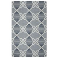 Rizzy Home Caterine Diamond Hand-Tufted Wool 8-Foot x 10-Foot Area Rug in Blue