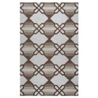 Rizzy Home Caterine Diamond Hand-Tufted Wool 9-Foot x 12-Foot Area Rug in Khaki