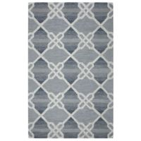 Rizzy Home Caterine Diamond Hand-Tufted Wool 9-Foot x 12-Foot Area Rug in Blue