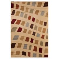 Rugs America Capri Holly 3-Foot 11-Inch x 5-Foot 3-Inch Area Rug in Beige