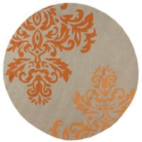Surya Vesuvius 8-Foot Round Indoor/Outdoor Area Rug in Orange
