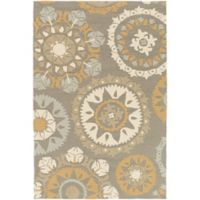 Surya Wanniassa 2-Foot x 3-Foot Indoor/Outdoor Accent Rug in Grey