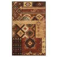 Rizzy Home Southwest Boxes 9-Foot x 12-Foot Area Rug in Brown Multicolor