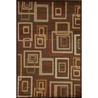 Rugs America Capri Brandy 3-Foot 11-Inch x 5-Foot 3-Inch Area Rug in Brown