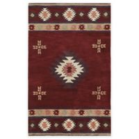Rizzy Home Southwest Center Star 5-Foot x 8-Foot Area Rug in Burgundy