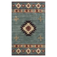 Rizzy Home Southwest Center Star 8-Foot x 10-Foot Area Rug in Grey/Blue