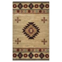 Rizzy Home Southwest Center Star 8-Foot x 10-Foot Area Rug in Khaki