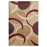 Rugs America Capri Tex 3-Foot 11-Inch x 5-Foot 3-Inch Area Rug in Gold