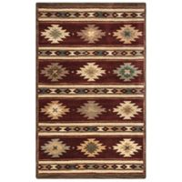 Rizzy Home Southwest Stripe 9-Foot x 12-Foot Rug in Burgundy