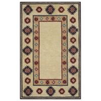 Rizzy Home Southwest Border 3-Foot x 5-Foot Area Rug in Tan
