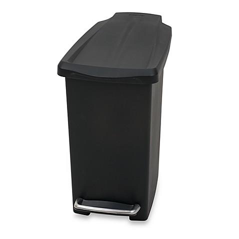 Simplehuman Mini Slim Plastic 10 Liter Step On Trash Can