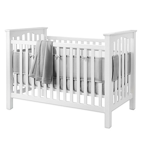 BreathableBaby® Deluxe Cable Weave  4-Piece Bedding Set in Grey