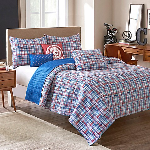 image of Southern Tide® Legacy Reversible Quilt in Red/White/Blue