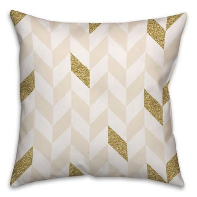 Good Herringbone Pattern Square Throw Pillow