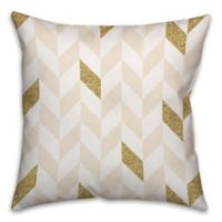 Herringbone Pattern Square Throw Pillow