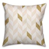 Herringbone Pattern Square Throw Pillow