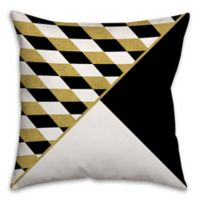 Diamond and Triangle Pattern Throw Pillow in Cream/Multi