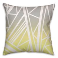 Gradient Geometric-Pattern Throw Pillow in Yellow/Grey
