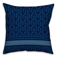Abstract Pattern Square Throw Pillow in Blue/White