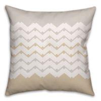 Jagged Chevron Square Throw Pillow in Cream/White