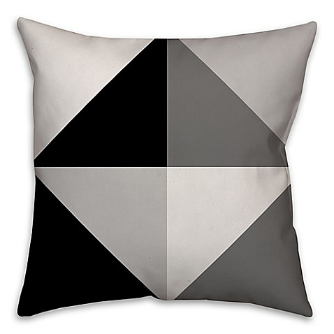 Black Throw Pillows Bed Bath And Beyond : Greyscale Color Block Square Throw Pillow in Black/Grey - Bed Bath & Beyond