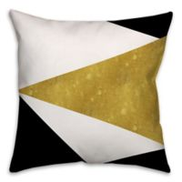 Asymmetrical Color Block Square Throw Pillow in Black/Multi