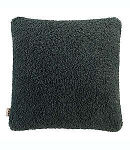 Cojín decorativo cuadrado de poliéster UGG® Teddie color gris oscuro