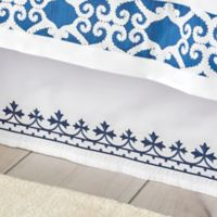 Dena™ Atelier Indigo Dream King Bed Skirt in White/Indigo