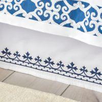 Dena™ Atelier Indigo Dream Queen Bed Skirt in White/Indigo