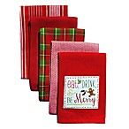 Eat Drink and Be Merry 5-Pack Kitchen Towels