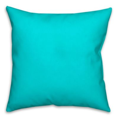 solid color square throw pillow in turquoise - Turquoise Decorative Pillows