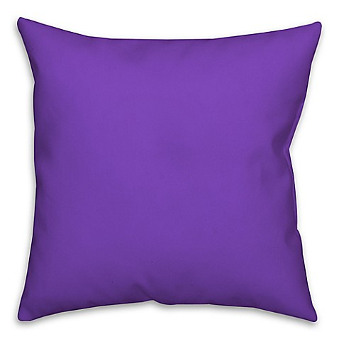 Buy Solid Color Square Throw Pillow in Purple from Bed ...